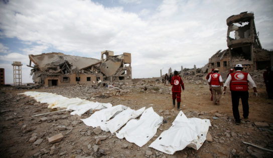 Saudi-led coalition strike on prison in Yemen kills at least 100 people – Red Cross