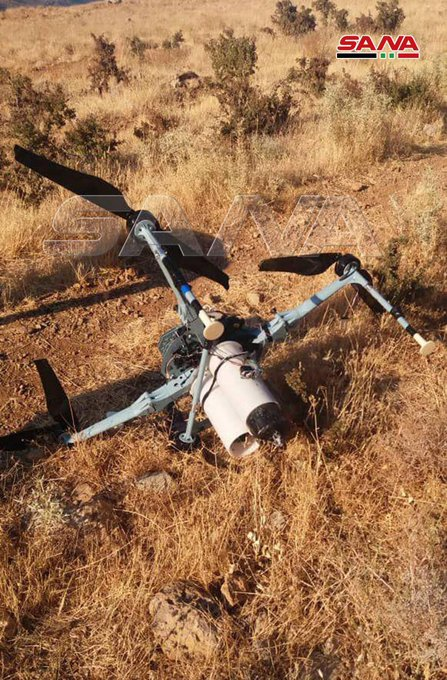 Syrian Army Intercepts Drone Loaded With Cluster Bombs
