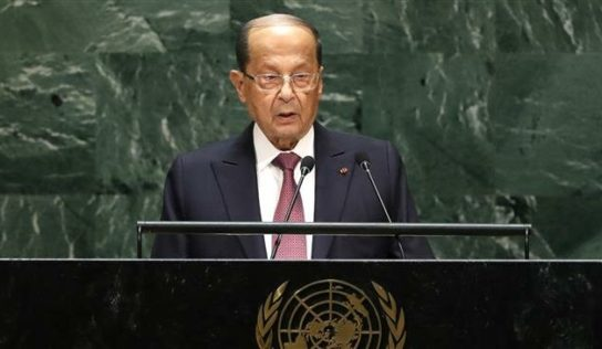 President Aoun urges world leaders to work on safe return of Syrian refugees