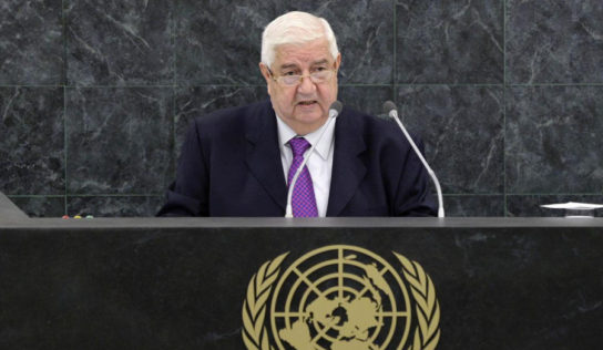 FM Muallem : US, Turkey must end illegal military presence in Syria