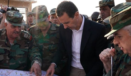 Syrian President Pays Visit to Idlib's Recently Liberated City of Hobait
