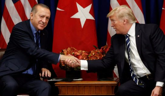 Trump lauds Erdogan ties amid S-400 tensions, pro-Kurd protest