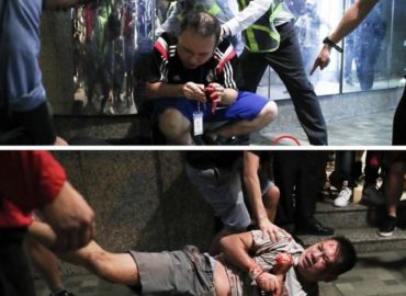 6 wounded incl. attacker in Hong Kong mall stabbing, reportedly sparked by political argument