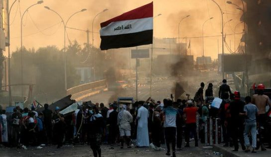 Iraqi security captures bridge near Baghdad's Green Zone after clashes with protesters