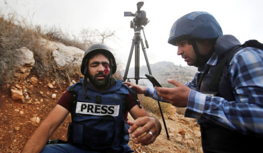 Palestinian journalist loses an eye after being hit by Israeli rubber bullet at West Bank land seizure protest