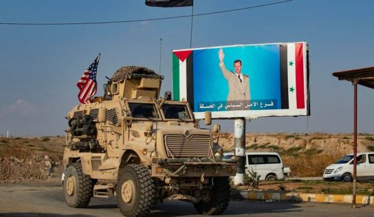 Syrian Army stops US military convoy and forces it to turn around