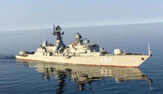 Chain , Russia and Iran's navies hold Joint Drills In The Persian Gulf For The First Time Ever
