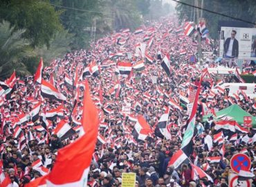 Iraqis march in 'millions' to call for expulsion of US troops