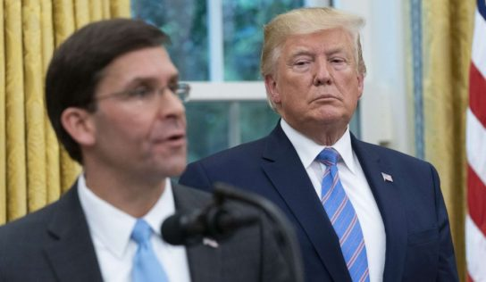 """Trump and Esper: no evidence, just a """"sneaky feeling"""""""