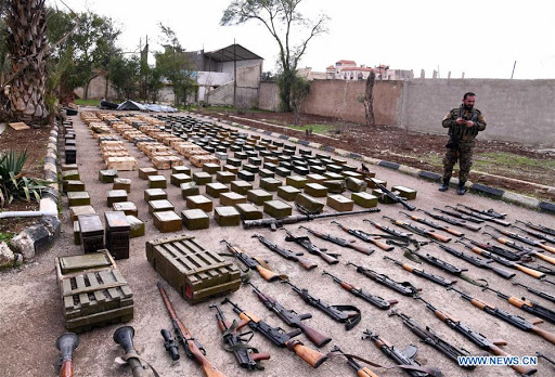 Syrian Servicemen Discover Large Ammunition Cache in Bunker in Idlib Province