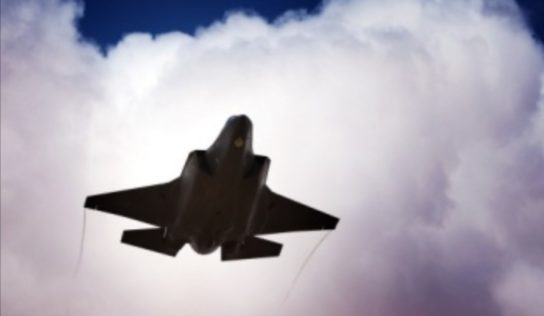 F-35 jets Of US air Force over Northereastern Syria