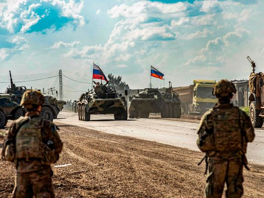 Heavily-armed Russian military convoy heads to northeast Syria