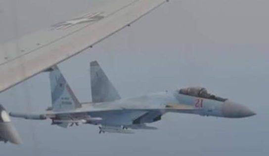 Russian SU-35S Harrassed US Spy Plane Flying Off Syrian Coast