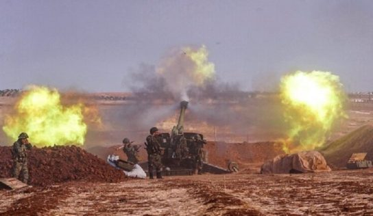 Syrian Army Shells terrorists Positions In Southern IDLIB As Russian Warplanes Scout The Region