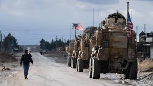 US military convoy enters Hasakah in northeast Syria from Iraq