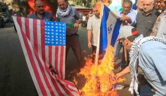 Lebanese activists rally outside UAE embassy to denounce normalization with Israel
