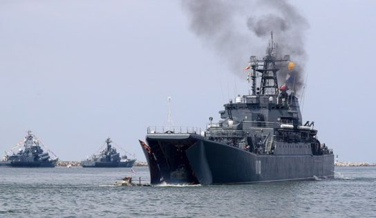 Large number of Russian warships deployed between Syria and Cyprus