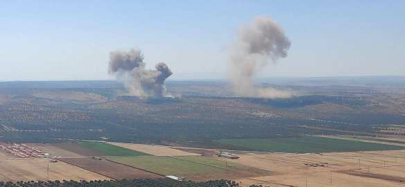 Russian Air Force's most powerful attack on terrorist targets in Syria since months