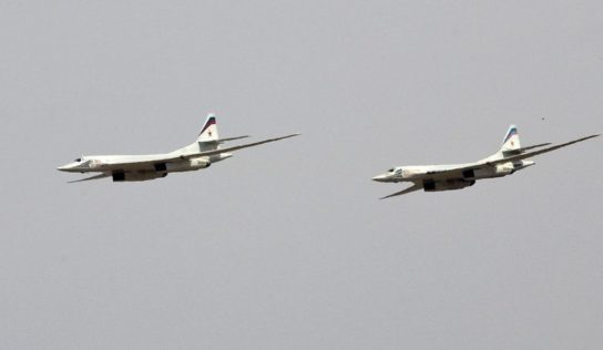 Russian strategic bombers fly along Belarusian-NATO borders