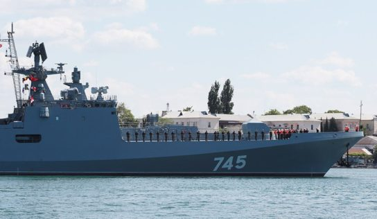 Russian warship collides with Danish vessel