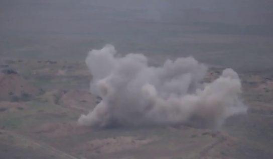 Armenian forces attack Azerbaijani military base, vehicles: video