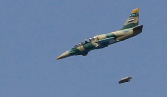 Syrian and Russian jets strike ISIS in central Syria