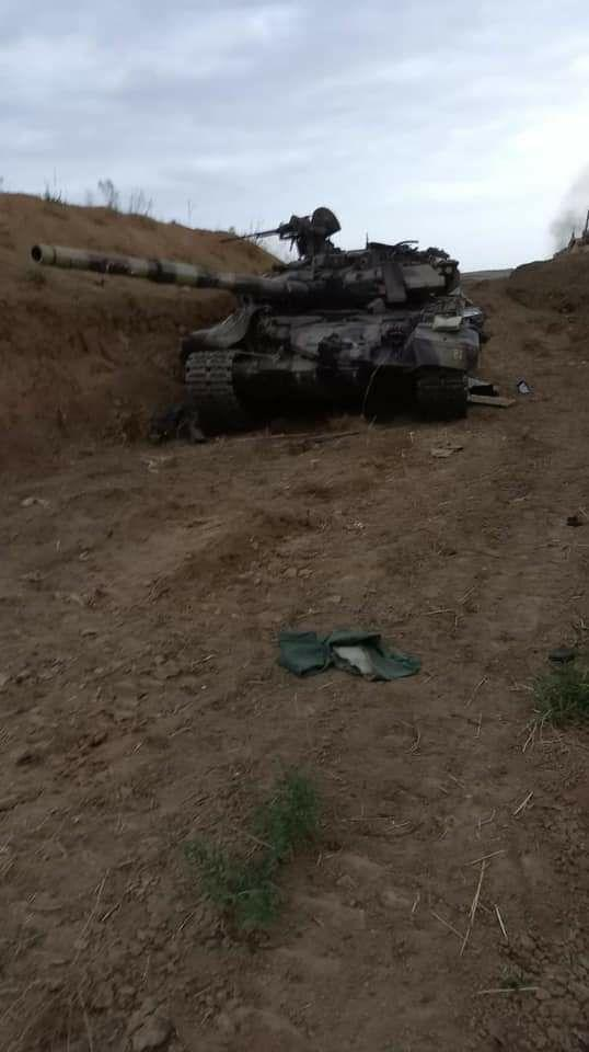 Armenian forces capture Azerbaijani T-90 tank