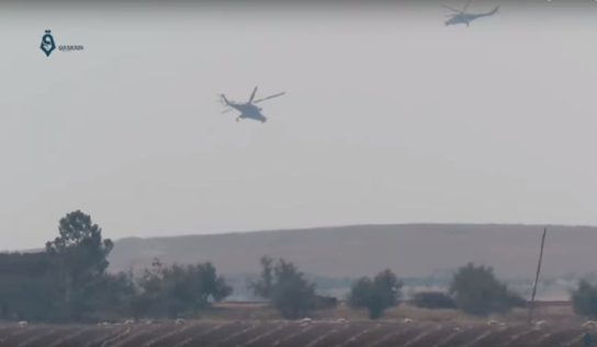 Syrian military choppers search for ISIS terrorists in central Syria: video