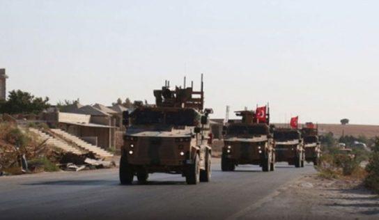 """Turkish forces dismantling the observation point in """"Qubtan al-Jabal"""", western Aleppo"""