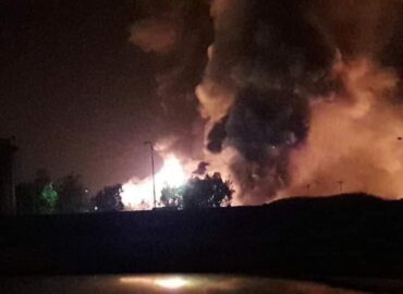 Massive explosions rock the Homs countryside