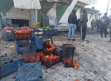 """Victims and wounded in a mysterious explosion in the city of """"Tal Abyad"""", north of Raqqa"""