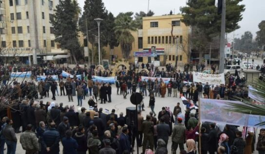 Protests in Al-Hasakah and Qamishli against the Qasd blockade of residential areas