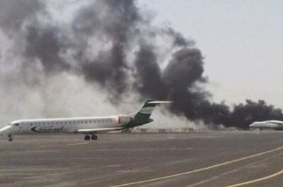 Yemeni missile destroys military target in Saudi Arabia's Abha intl. airport with high precision