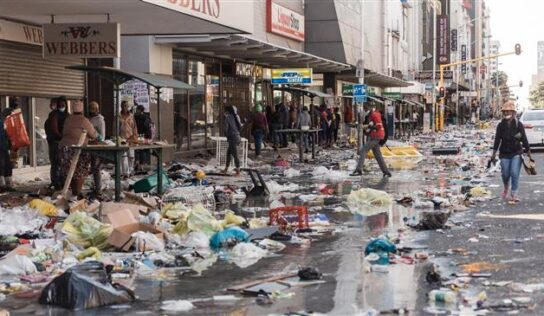 South Africa's death toll rises to 117 as govt. hikes troop deployment against looters
