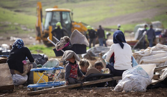 Israeli forces block aid delivery to homeless Palestinian villagers in Jordan Valley