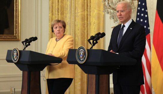 Biden, Merkel Seek 'Practical Measures' Against Nord Stream 2