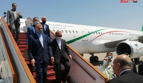 Hossein Amirabdollahian Arrives in Damascus