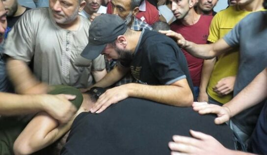 Israeli Occupation Hands Over the Body of a Palestinian Martyr