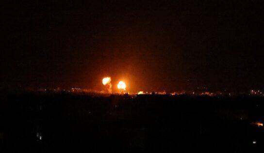 Israeli Airstrikes on Central Gaza