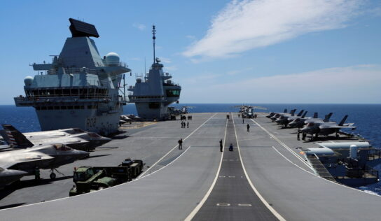 'Focus on Brexit': North Korea blasts London's 'provocation' as UK sends its largest carrier strike group to Asian waters