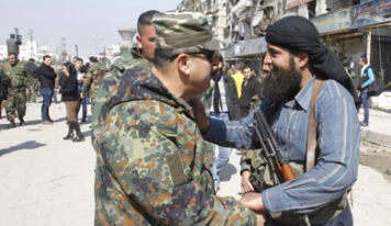 Former fighters in Daraa lay down arms