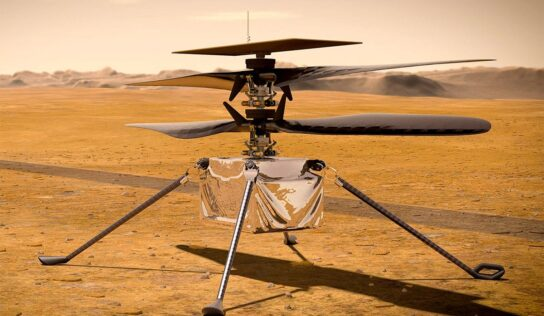 Helicopter on the Surface of Mars