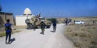 Army intercepts a US occupation military convoy in Hasaka countryside