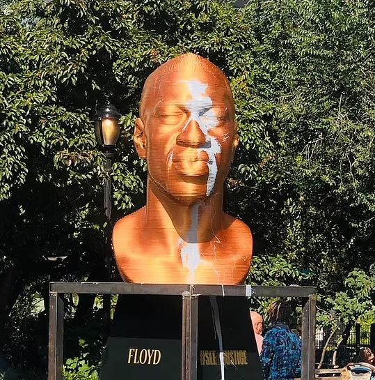 George Floyd Statue in New York Vandalised for the Second Time – Photo .