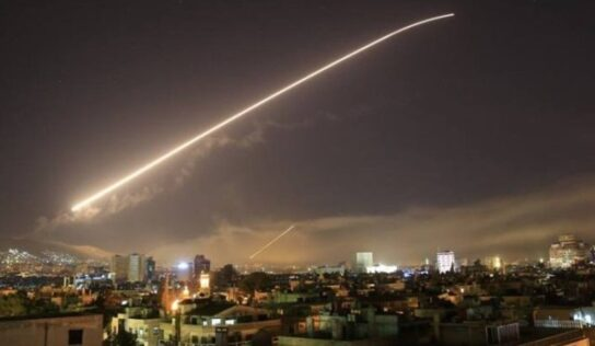Syrian air defenses respond to a new attack .