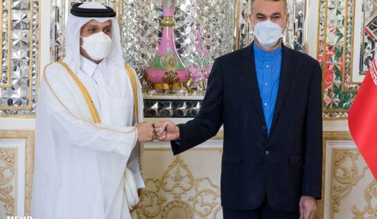 Iran FM discuss regional developments with Qatari couterpart
