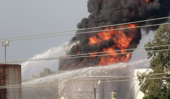 Inferno engulfs Lebanese oil facility just days after country plunged into total darkness from shortages.