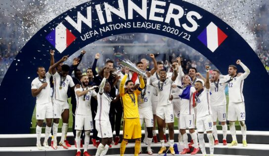 France wins Nations League in late-scoring 2-1 final against Spain .