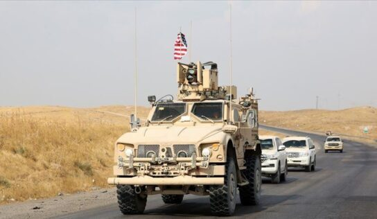 US Trucks Loaded with Weapons Enter Al-Hasakah Countryside.