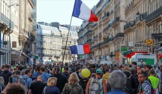 Protests, strikes scheduled in France against govt. policies.